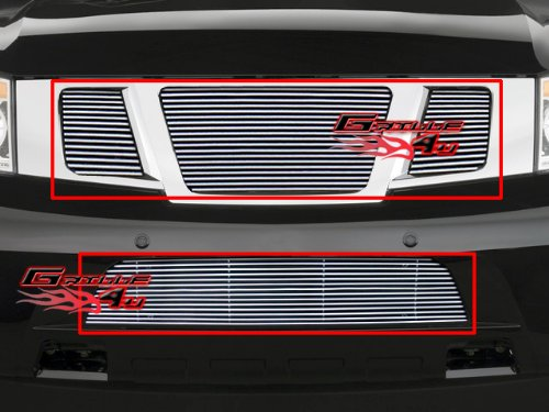 2008 Billet (Fits 2008-2013 Nissan Armada Billet Grille Grill Insert Combo # N67770A)