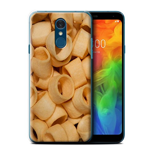 STUFF4 Phone Case/Cover for LG Q7/Q7+/Q7a/Hula Hoops Design/Snacks Collection ()