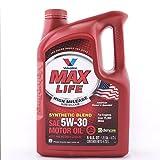 Valvoline MaxLife High Mileage Motor Oil, SAE 5W-30 - 5qt (Case of 3) (782256-3PK)