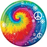 "Creative Converting-Tie Dye Fun 8 3/4"" Plates (Lunch) 8 count"