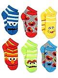 Sesame Street Boys Multi pack Socks (4-6 / Shoe: 7-10, Stripes Quarter 6 pk)