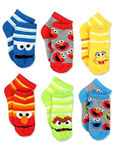 Sesame Street Boys Multi pack Socks (2-4 / Shoe: 4-7, Stripes Quarter 6 (Sesame Street Toddler Shoes)