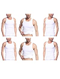 Godsen Men's 6 Pack A-Shirt Sleeveles Undershirts Tank Top