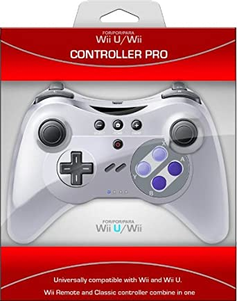 Pro Controller U for Wii and Wii U - SNES: Amazon co uk: PC