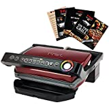 T-Fal Grill with Ceramic Plates & Recipe Book, Red