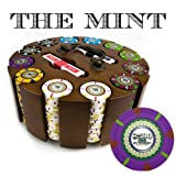 Claysmith Gaming XCSMT-300C 300 Count 'The Mint' Poker Chip Set in Wooden Carousel (13.5gm)