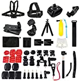 Sport Action Camera Accessories Bundle kit for GoPro Hero 3+ 3 2 1 camera and Sj4000/Sj5000 Sport camera in Swimming Rowing Skiing Climbing Bike and Other Outdoor Sports (43Kits Accessories)