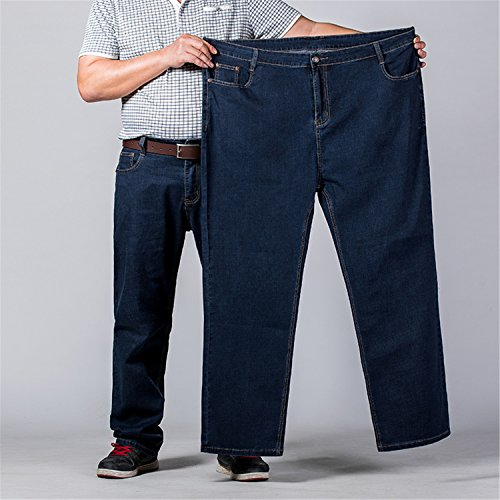 Coac3 Mens Big and Tall High Stretch Jeans Denim Business Relax Pants Dark Blue by Coac3 (Image #1)