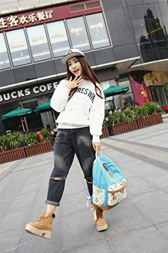 Azul 16CM 28 Azul 2 Mochila FashionGirls de Monedero 41 Claro GAOQIANGFENG Claro qTOfISwz