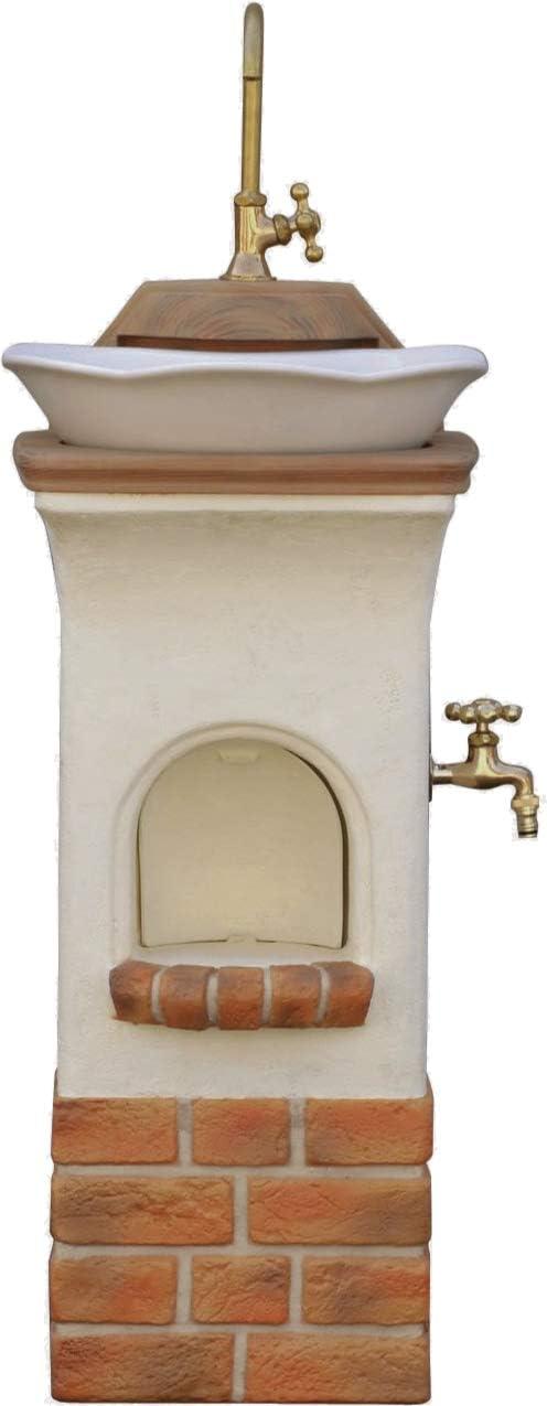ディーズガーデン 立水栓 スタンドウォッシュ リリー 二口水栓柱+パンセット 蛇口付