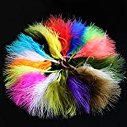100 pcs/lot 6 Colors Turkey Marabou Blood Feathers Woolly Bugger Streamers Fly Tying Feather Materials