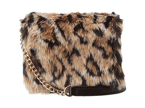 Juicy Couture Hollywood Hiills Faux Fur Leopard Mini G Bag Long Chain 6.75' Paper