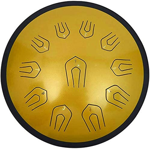Classic 22 Notes 18 Inches Dish Shape Steel Tongue Drum Manual Percussion Handpan Drum met hamers Tonic Sticker Travel Bag for yoga meditatie Muziektherapie Van toepassing op Music Education M