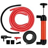 Toogoo Multi-Purpose Siphon Transfer Pump Kit, with Dipstick Tube | Fluid Fuel Extractor Suction Tool for Oil, Gasoline, Water, Liquids & Air