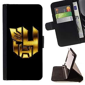 For Samsung Galaxy J3(2016) J320F J320P J320M J320Y Case , Mech Formadores Robots- la tarjeta de Crédito Slots PU Funda de cuero Monedero caso cubierta de piel