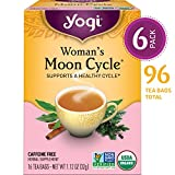 Yogi Tea - Woman's Moon Cycle - Supports a Healthy Cycle - 6 Pack, 96 Tea Bags Total