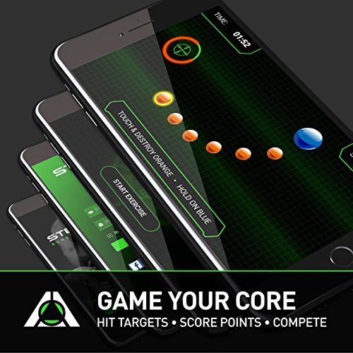 Stealth Core Trainer Professional, Dynamic Ab Plank Workout, Interactive Fitness Board Powered By GamePlay Technology For a Healthy Back and Strong Core (Glow Green) by Stealth (Image #3)