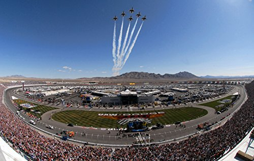 Las Vegas Nascar Race - Home Comforts Canvas Print Las Vegas Motor Speedway Before The NASCAR UAW-Dodge 400 Sprint Cup Series Race. Stretched Canvas 10 x 13