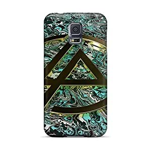 Durable Hard Phone covers cases for Happy Christmas and New Year For Samsung Galaxy S5 (SBD10727kkMB) Unique Design Vivid Linkin Park Pattern