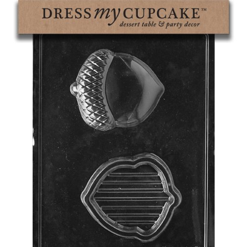 Dress My Cupcake DMCF085 Chocolate Candy Mold, Acorn Pour Box