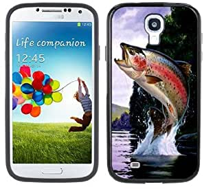 Rainbow Trout Fishing Handmade Samsung Galaxy S4 Black Bumper Hard Plastic Case by lolosakes