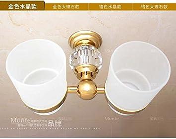 BATHAE Cristal Or Décoration Laiton Salle de bain Double ...