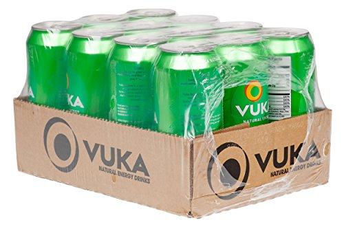 Vuka Renew Mango Peach Sparkling Natural Energy Drink, 16oz, 12 Pack