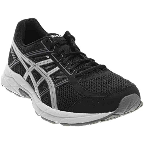 ASICS Men's Gel-Contend 4 Running Shoe, Black/Silver/Carbon, 10.5 4E US