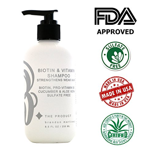 Biotin Hair Growth Shampoo-Biotin Vitamin Shampoo For Hair Loss And Thinning Hair, Sulfate Free Aloe Vera Cucumber Extract With Pro Vitamin B, B. the product 8.5oz. by B THE PRODUCT (Image #4)