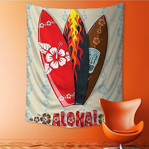 SOCOMIMI Wall Hanging Tapestries Wall Art Tapestries Wall Tapestries Hawaiian Gifts Aloha Hawaii s Tiki Tropical Tapestry Dorm Decor Tapestry 24L x 36W