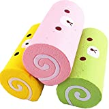 2 Pack Jumbo Slow Rising Stress Reliever Squishy Squeeze Cute Cake Roll Squishes for Kids and Adult
