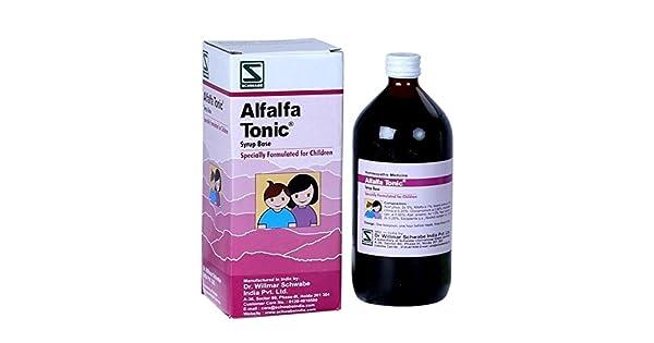 Amazon.com: Dr. WILLMAR Schwabe Alfalfa Tonic Jarabe Base ...