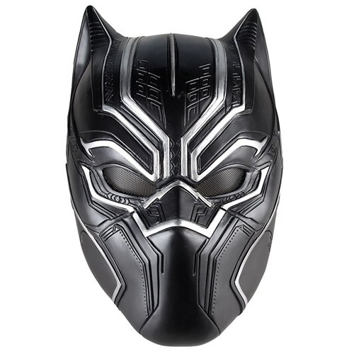 Flamingo Bonut Latex Mask Black Panther Masks Movie Fantastic Four Cosplay Men's Latex Party Mask for Halloween Cosplay-Props Marvel Superhero Figure (Black) -