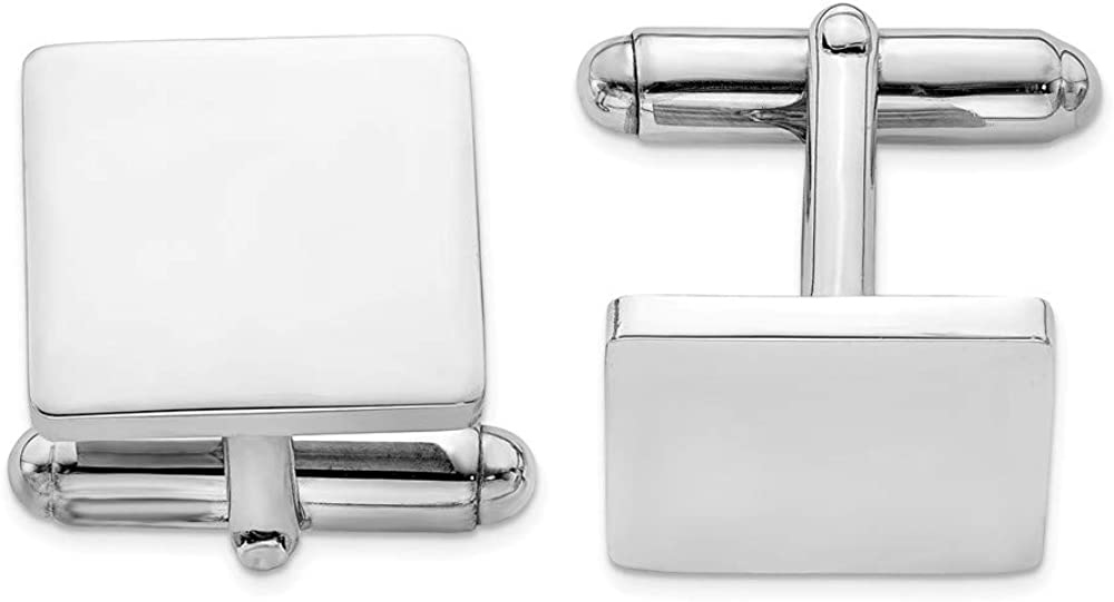 925 Sterling Silver Square Cuff Links Mens Cufflinks Man Link Fine Jewelry For Dad Mens Gifts For Him