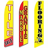 3 Swooper Flags Tile Marble & Granite SALE Flooring Red & Yellow
