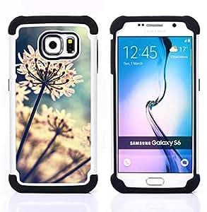 """Hypernova Híbrido Heavy Duty armadura cubierta silicona prueba golpes Funda caso resistente Para Samsung Galaxy S6 / SM-G920 [Flores del jardín floreciente de Sun""""]"""