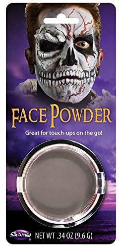 Grey Pressed Face Powder Foundation Face Makeup Halloween