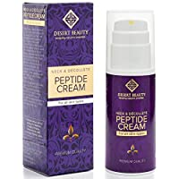 Neck Firming Cream, Anti Aging Moisturizer for Neck & Décolleté (3.38 oz / 100ml Large Bottle)   Advanced Stem Cell + Collagen Formula For Tightening & Lifting Sagging Skin   by Desert Beauty