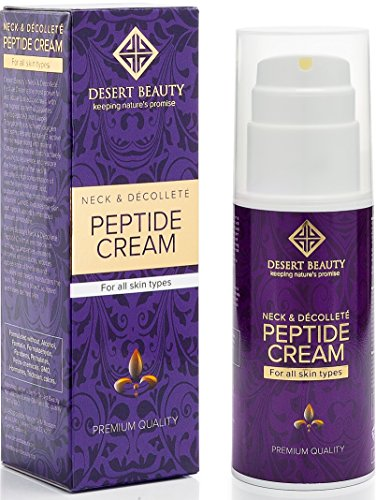 Neck Firming Cream, Anti Aging Moisturizer for Neck & Décolleté (3.38 oz/100ml Large Bottle) | Advanced Stem Cell + Collagen Formula For Tightening & Lifting Sagging Skin | by Desert Beauty (Decolletage Lifting Cream)