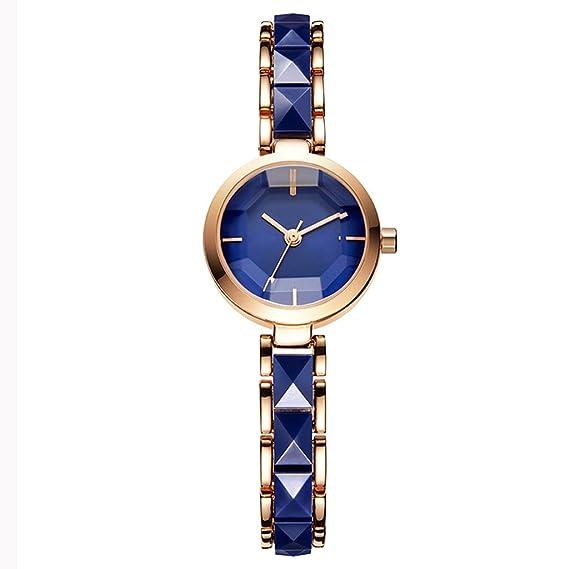 Reloj de cuarzo para mujer 2018 New Wave Disc Bracelet Steel Belt Tendencias de la moda