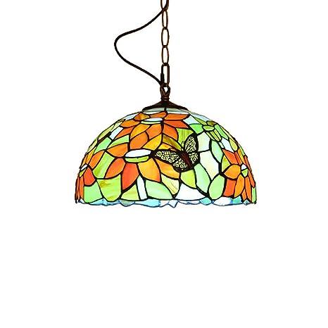 Colgante de luz Lampara tiffany Lámpara de mesa colgante Rústico ...