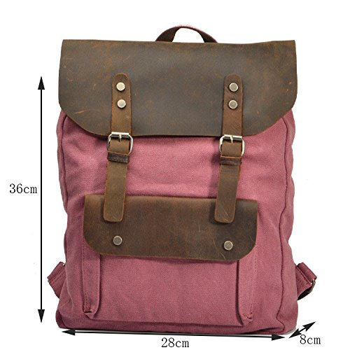à à de pour Sac dos Hundred Match Sac à Sacs unisexe de en loisirs Daypacks Lake plein Camping double College bandoulière sac fille air Randonnée en cuir Uk dos Green toile wg7nqdX