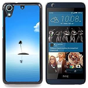 GIFT CHOICE / Teléfono Estuche protector Duro Cáscara Funda Cubierta Caso / Hard Case for HTC Desire 626 // Cute Lonely Island Ocean //