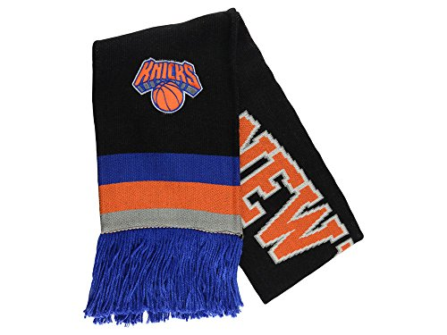 Mitchell & Ness NBA Blackout Team Stripe Scarf (New York Knicks)