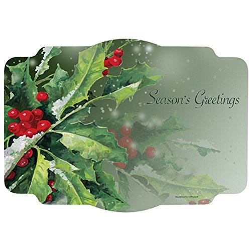 Holly And Berries Paper Placemats - 9.75 x 14 (50) -