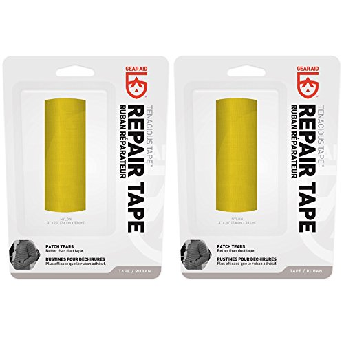 McNett Gear Aid Tenacious Tape Yellow Ultra Strong Outdoor Repair Tape (2-Pack) by Gear Aid