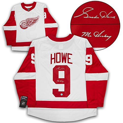 Gordie Howe Detroit Red Wings Autographed Autograph Mr. Hockey White Fanatics Hockey Jersey - Certificate of Authenticity Included