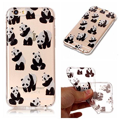 Custodia iPhone 6 / 6S , LH Panda TPU Trasparente Silicone Cristallo Morbido Case Cover Custodie per Apple iPhone 6 / 6S 4.7