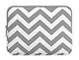 Mosiso iPad Pro 10.5 Case, Tablet Sleeve Bag for 2017 iPad 9.7 inch, iPad Air 2/Air, iPad 1/2/3/4, Canvas Fabric Protective Slim Pouch Cover, Chevron Gray