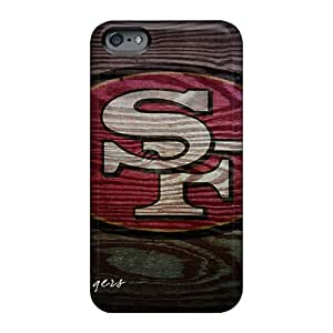 Scratch Resistant Hard Cell-phone Cases For Apple Iphone 6 Plus With Customized Trendy San Francisco 49ers Series WayneSnook